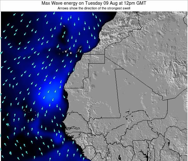 Gambia Max Wave energy on Sunday 04 Jun at 6pm GMT
