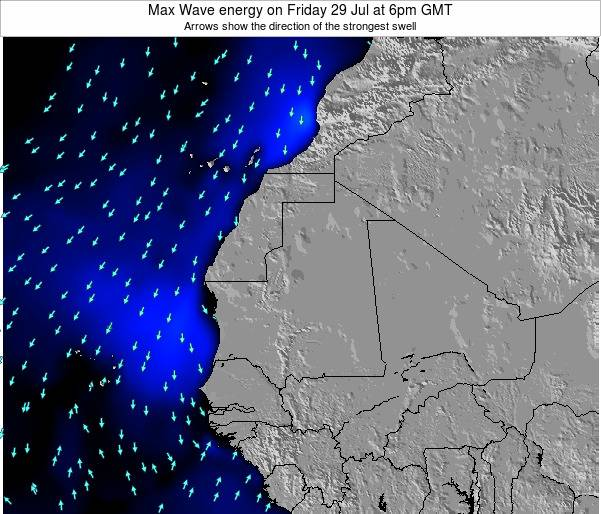 Gambia Max Wave energy on Monday 08 Sep at 12am GMT