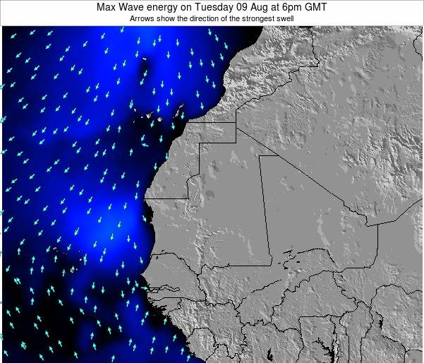 Liberia Max Wave energy on Thursday 24 Apr at 12am GMT