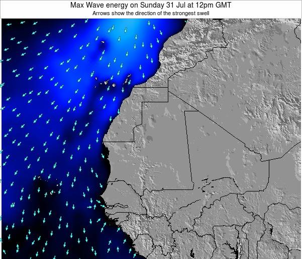 Gambia Max Wave energy on Friday 01 Aug at 12am GMT