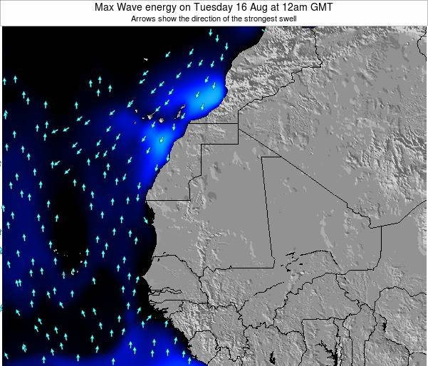 Sierra Leone Max Wave energy on Wednesday 19 Mar at 6am GMT
