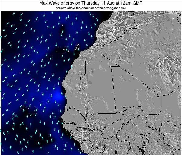 Liberia Max Wave energy on Wednesday 30 Apr at 6pm GMT