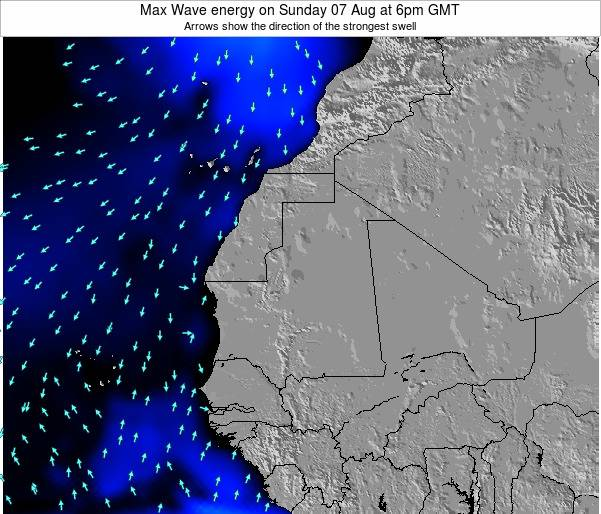 Gambia Max Wave energy on Friday 08 Aug at 12am GMT
