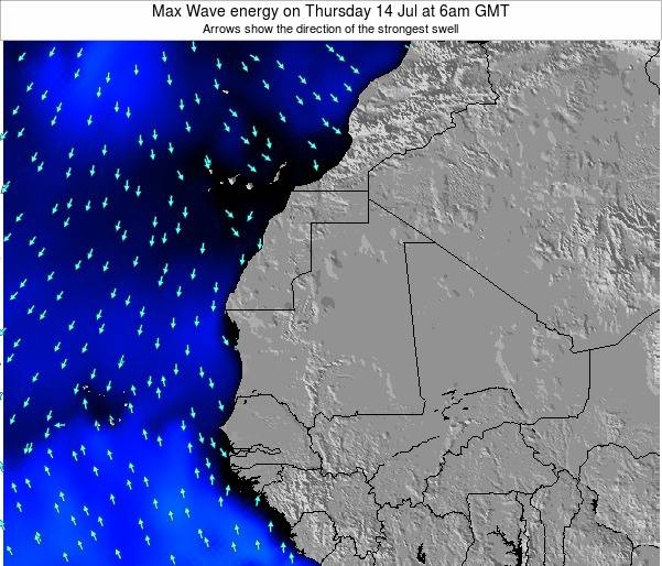 Gambia Max Wave energy on Tuesday 22 Jul at 6pm GMT