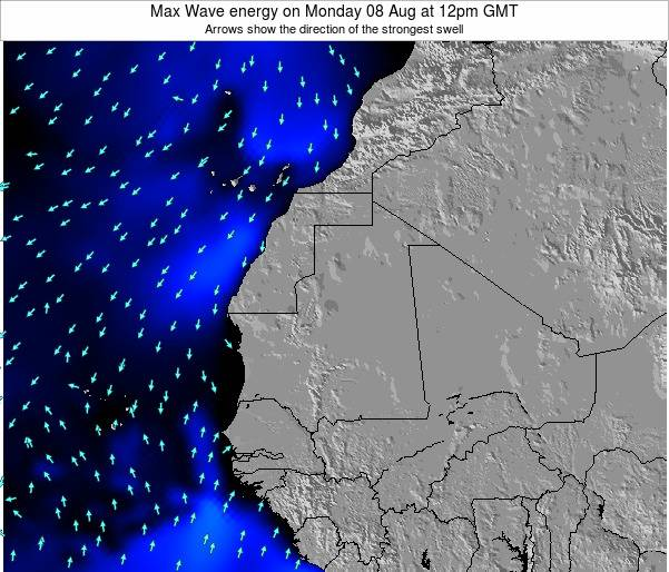 Gambia Max Wave energy on Monday 09 Dec at 6am GMT