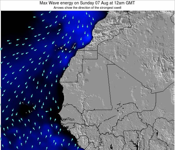 Gambia Max Wave energy on Tuesday 06 Dec at 12am GMT