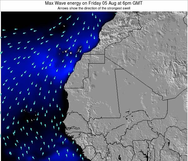 Gambia Max Wave energy on Friday 25 Apr at 12am GMT
