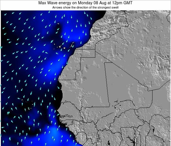 Senegal Max Wave energy on Saturday 25 May at 6pm GMT