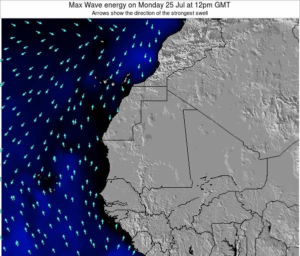 Gambia Max Wave energy on Saturday 31 Jan at 12pm GMT