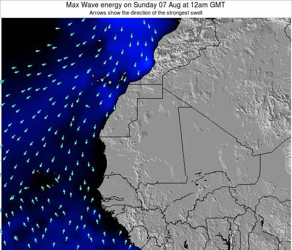 Gambia Max Wave energy on Monday 24 Apr at 6pm GMT