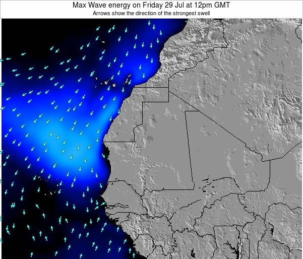 Gambia Max Wave energy on Thursday 17 Apr at 6pm GMT