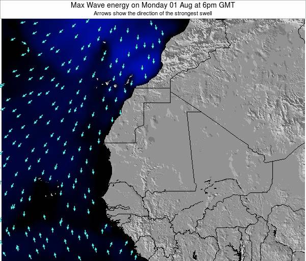 Gambia Max Wave energy on Friday 25 Apr at 12pm GMT