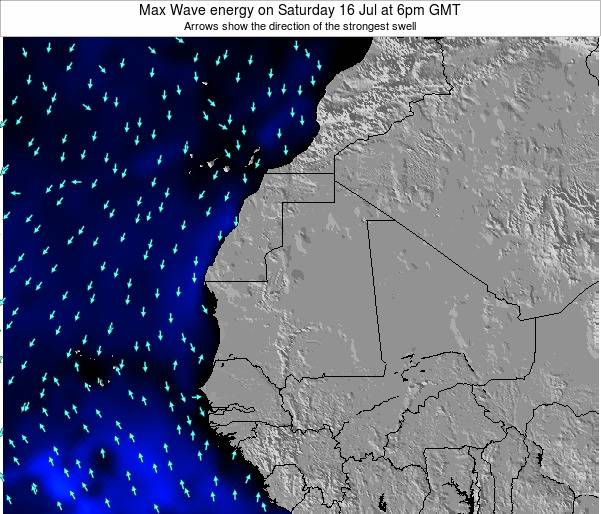 Gambia Max Wave energy on Tuesday 28 Mar at 12am GMT