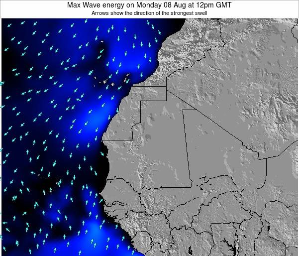 Gambia Max Wave energy on Sunday 02 Nov at 6am GMT