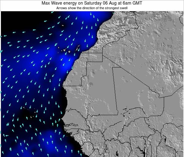 Liberia Max Wave energy on Thursday 13 Mar at 6am GMT