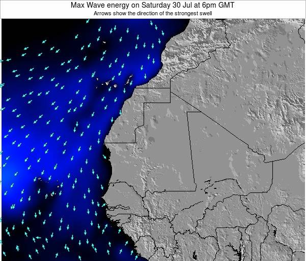 Senegal Max Wave energy on Tuesday 21 May at 12am GMT