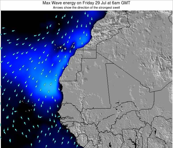 Gambia Max Wave energy on Thursday 31 Jul at 12am GMT