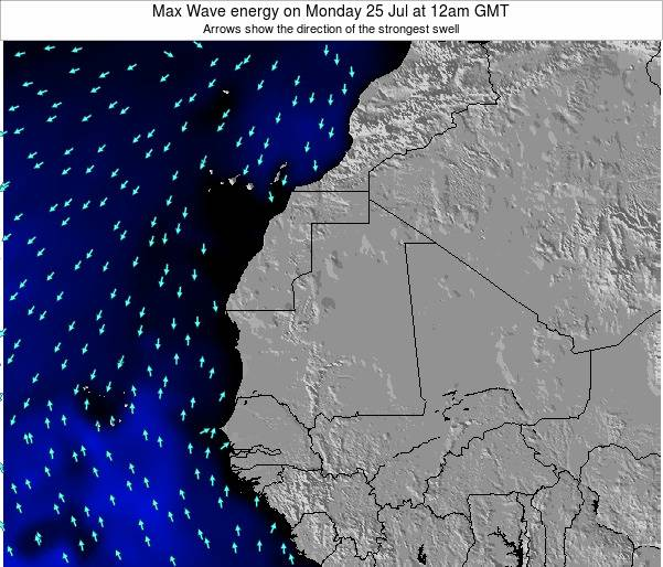 Senegal Max Wave energy on Tuesday 21 May at 6am GMT