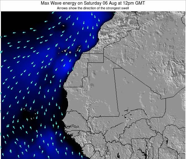 Gambia Max Wave energy on Saturday 25 May at 6am GMT