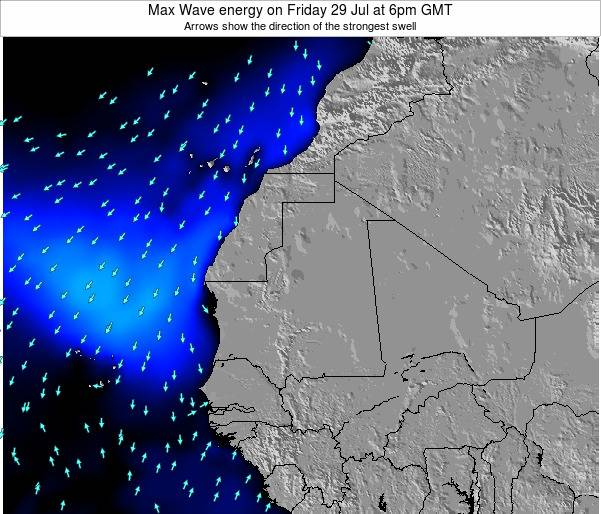 Liberia Max Wave energy on Sunday 11 Oct at 6am GMT