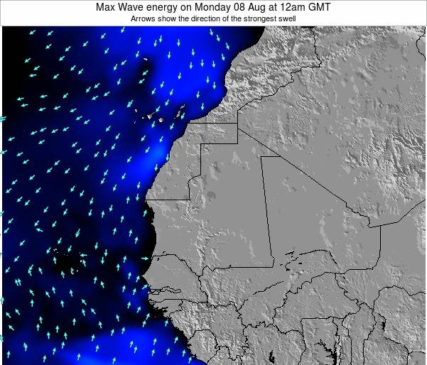 Gambia Max Wave energy on Monday 22 Dec at 6am GMT