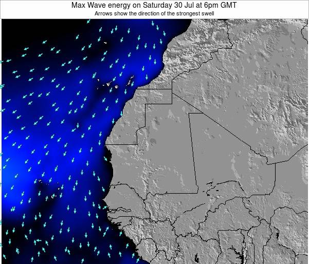 Gambia Max Wave energy on Saturday 30 May at 12pm GMT