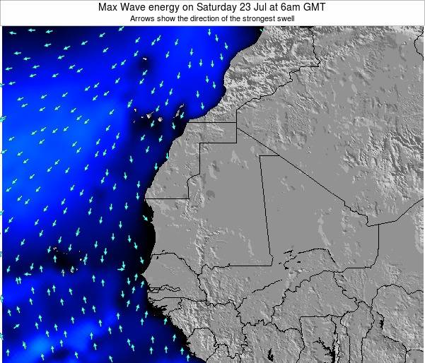 Cape Verde Max Wave energy on Wednesday 22 May at 6am GMT