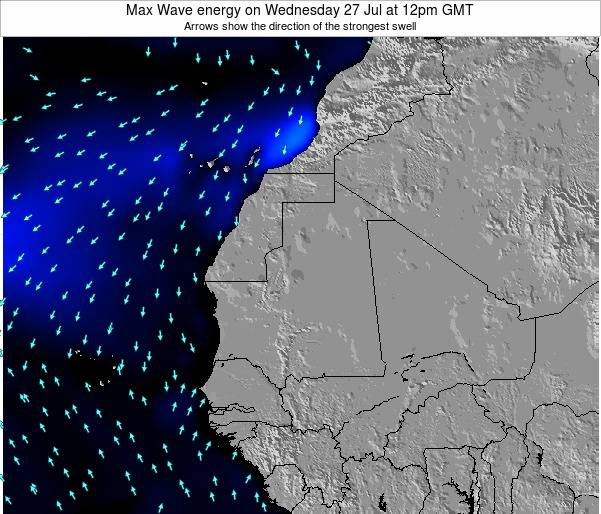 Gambia Max Wave energy on Thursday 18 Sep at 12pm GMT