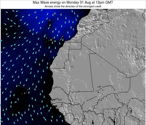 Gambia Max Wave energy on Thursday 23 May at 6pm GMT