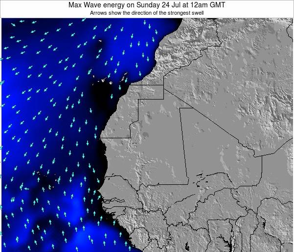 Gambia Max Wave energy on Thursday 31 Jul at 6pm GMT