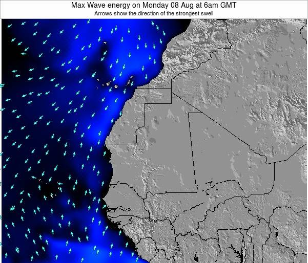 Gambia Max Wave energy on Friday 25 Jul at 12am GMT