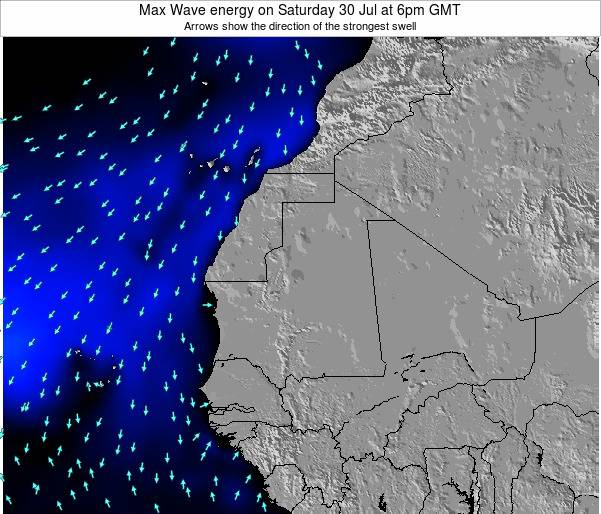 Gambia Max Wave energy on Friday 25 Apr at 6pm GMT