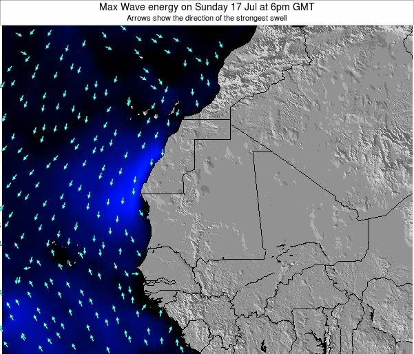 Senegal Max Wave energy on Saturday 22 Jun at 12pm GMT