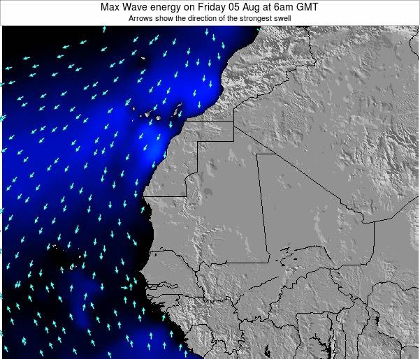 Gambia Max Wave energy on Sunday 31 May at 12pm GMT