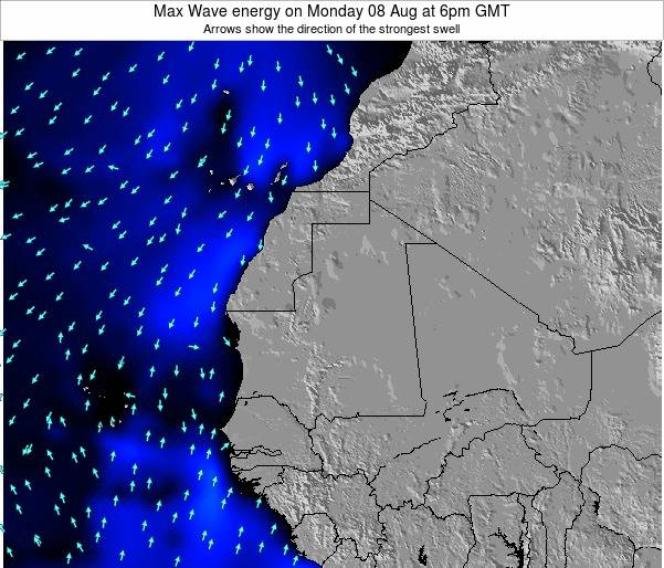 Gambia Max Wave energy on Tuesday 03 Mar at 6pm GMT