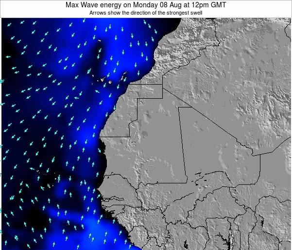 Gambia Max Wave energy on Saturday 26 Jul at 12am GMT