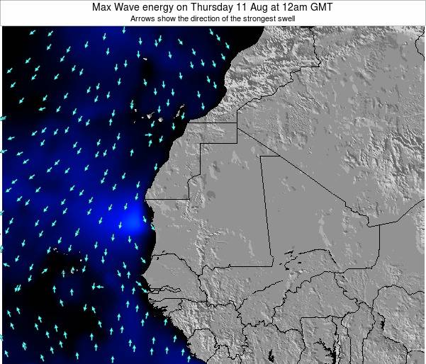 Gambia Max Wave energy on Thursday 28 Sep at 12pm GMT