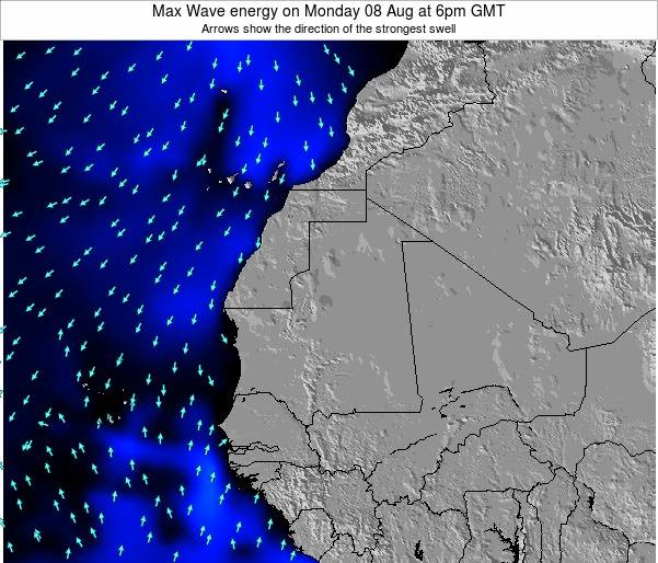Gambia Max Wave energy on Sunday 27 Apr at 6pm GMT