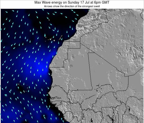Gambia Max Wave energy on Wednesday 22 May at 6am GMT