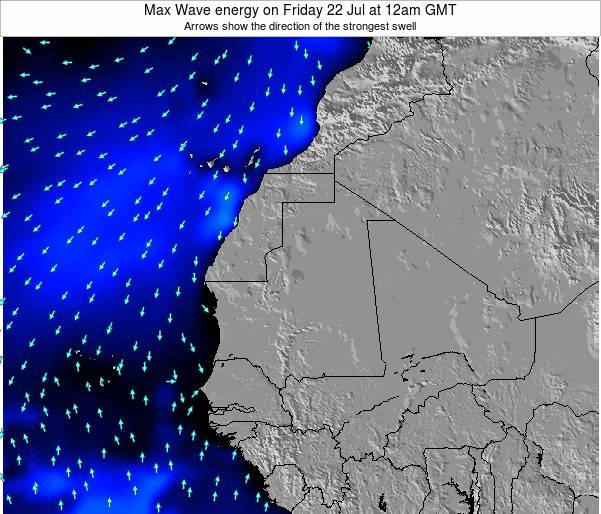 Gambia Max Wave energy on Tuesday 05 Aug at 6pm GMT
