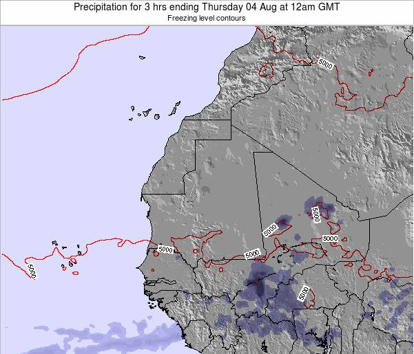 Sierra Leone Precipitation for 3 hrs ending Monday 27 May at 12am GMT