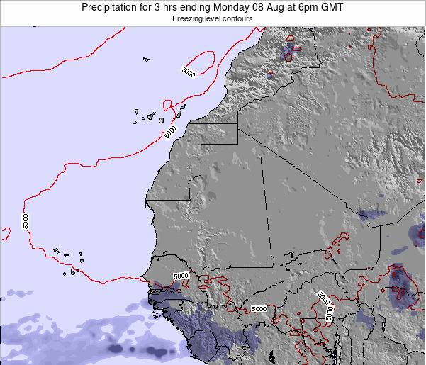 Sierra Leone Precipitation for 3 hrs ending Monday 24 Jun at 6am GMT
