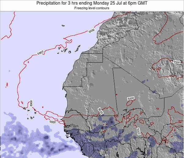 Liberia Precipitation for 3 hrs ending Friday 24 May at 12am GMT