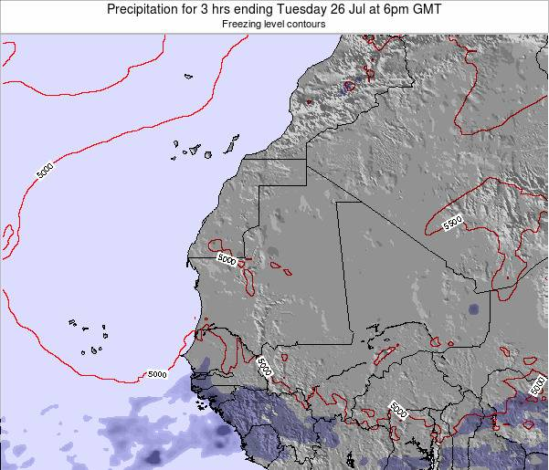 Liberia Precipitation for 3 hrs ending Monday 17 Mar at 6pm GMT