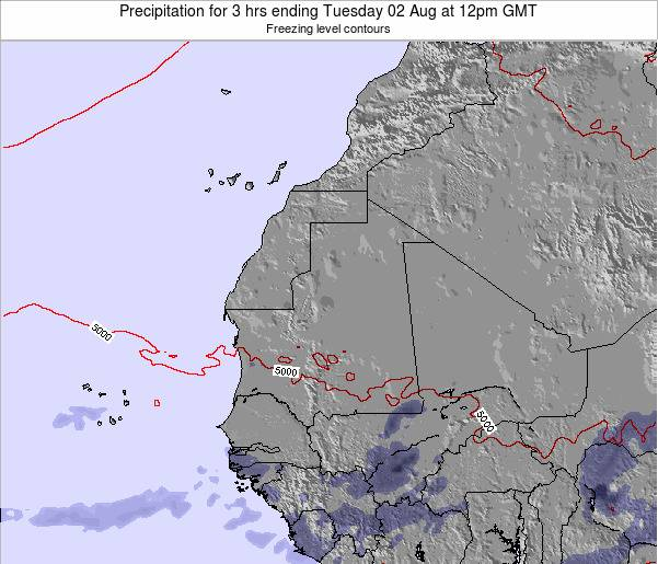 Liberia Precipitation for 3 hrs ending Friday 01 May at 12pm GMT