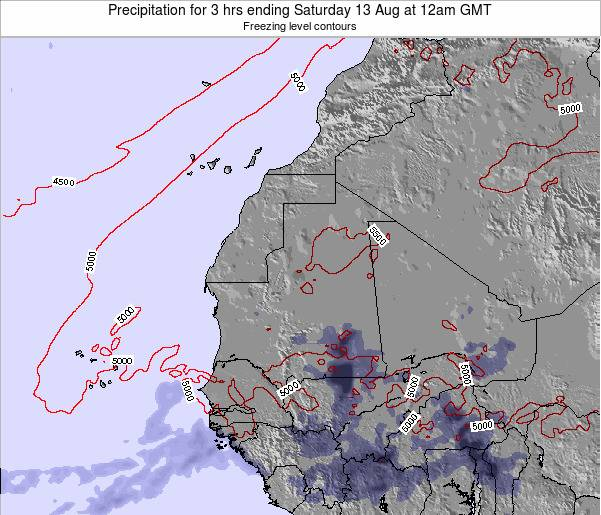 Liberia Precipitation for 3 hrs ending Tuesday 29 Apr at 12pm GMT