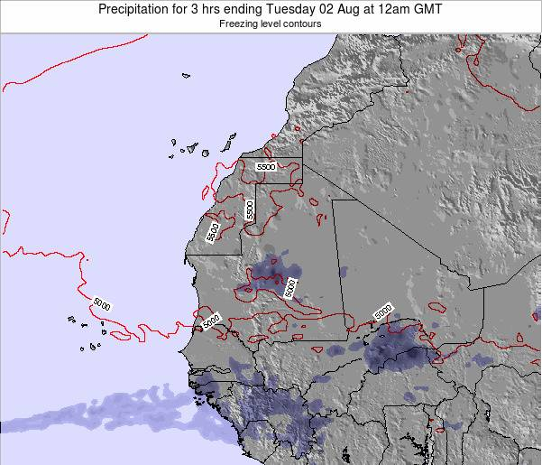 Liberia Precipitation for 3 hrs ending Tuesday 17 Dec at 6pm GMT