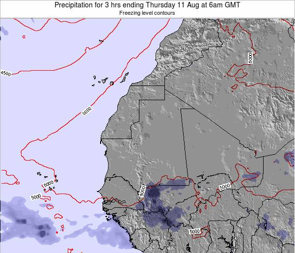 Liberia Precipitation for 3 hrs ending Friday 10 Jul at 6am GMT