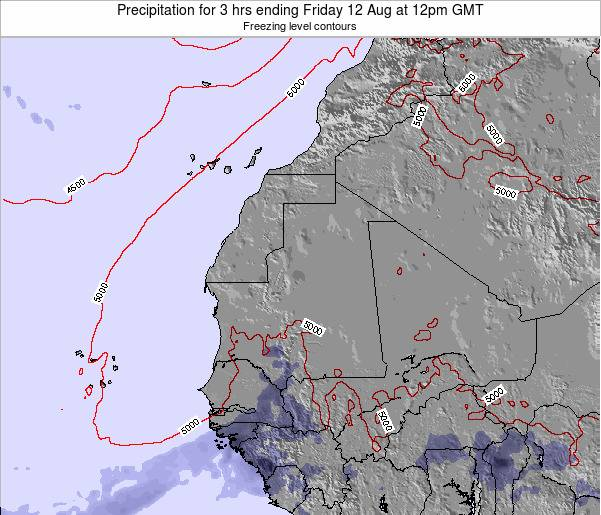 Liberia Precipitation for 3 hrs ending Friday 14 Mar at 12pm GMT