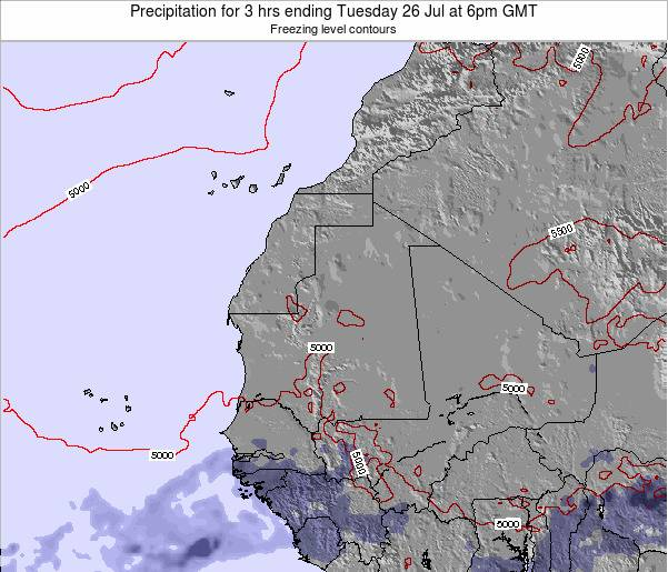 Sierra Leone Precipitation for 3 hrs ending Saturday 06 Sep at 6pm GMT